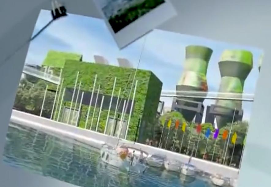 Grünes Kohlekraftwerk. Bild aus Propagandavideo der SEI/Repower, 2011.