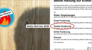 Die grosse Herausforderung | Netto-Null bis 2030 | Was noch zu beachten ist | Eine Einführung | klimacharta.ch | klimaatelier.ch