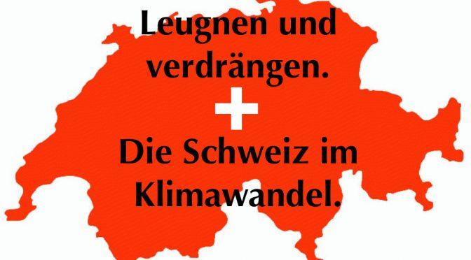 Einbildung und Leugnung: Schweizer Ergebnisse des European Social Survey 2016 zu Klimawandel