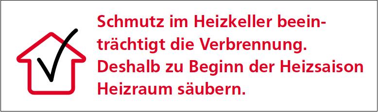 Heizraum säubern! Energiesparanleitung des Schweizer Bundesamt für Energie, BFE.